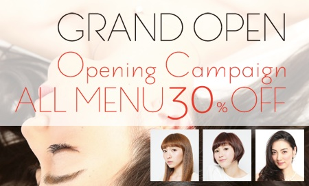 GRAND OPEN Opening Campaign ALL MENU 30% OFF